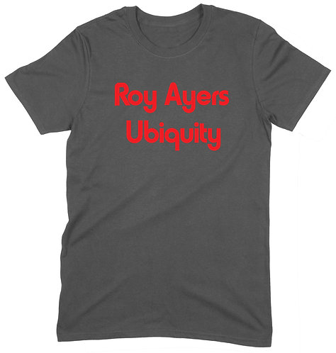 Roy Ayers T-Shirt - LARGE / CHARCOAL / ORGANIC STANDARD