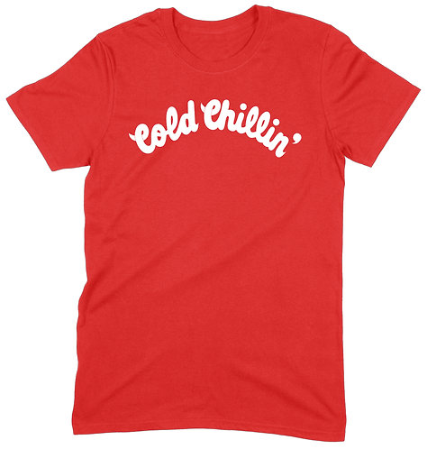Cold Chillin' T-Shirt - LARGE / RED / HEAVY WEIGHT