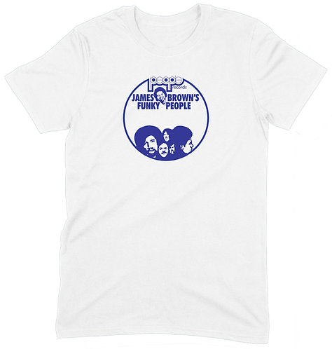 James Brown People Recs T-Shirt - SMALL / WHITE / STANDARD WEIGHT