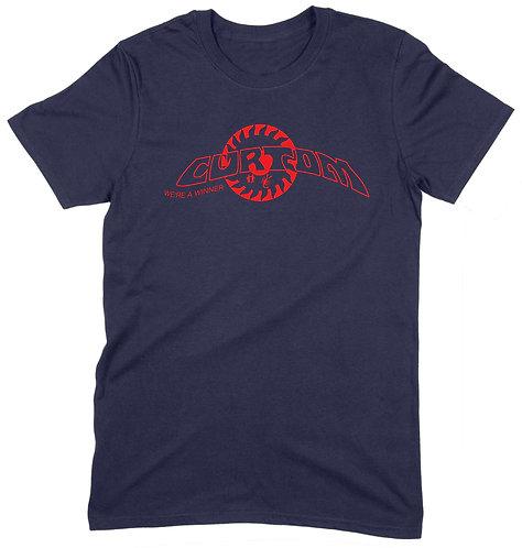 Curtom T-Shirt - LARGE / NAVY / ORGANIC STANDARD WEIGHT