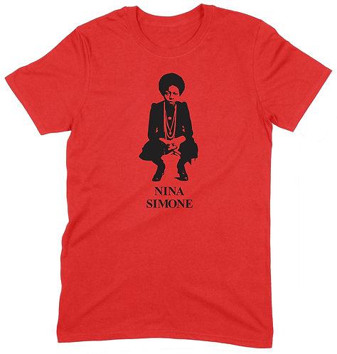 Nina Simone T-Shirt - MEDIUM / RED / STANDARD WEIGHT