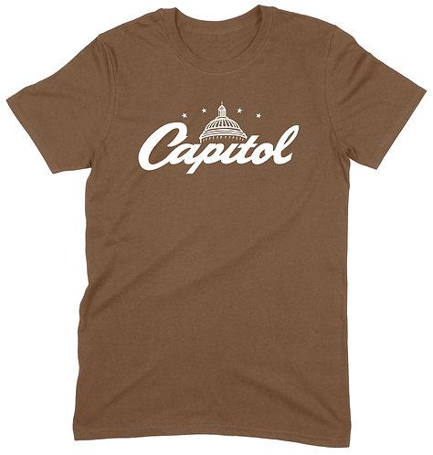 Capitol Recs T-Shirt - XL / BROWN / ORGANIC STANDARD WEIGHT