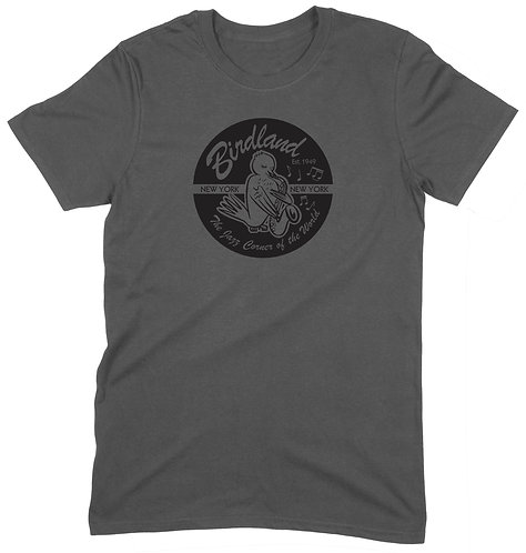 Birdland NYC T-Shirt - SMALL / CHARCOAL / PREMIUM WEIGHT