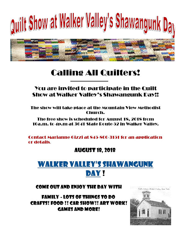 Quilt Show Event@Walker Valley's Shawangunk Day