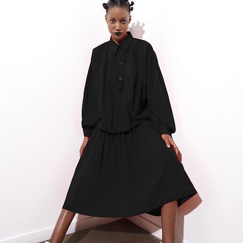 Blouson Dress in Wool