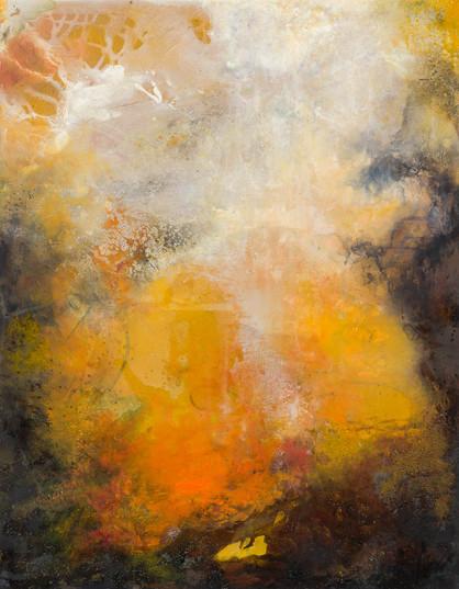 43. Amber flames rising II