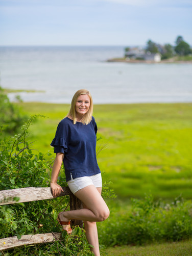 Kennebunkport Maine Senior Portraits