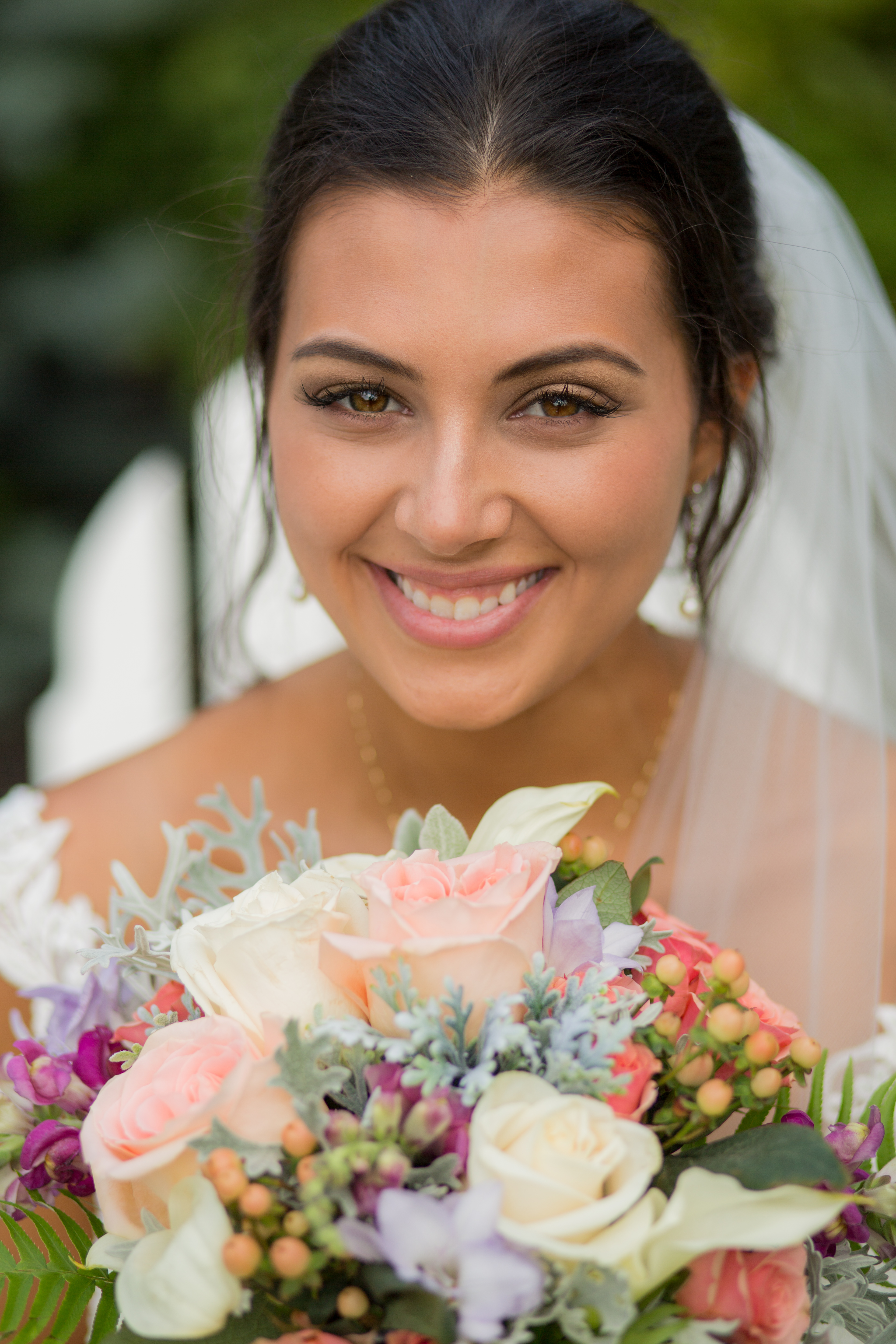 Bride Holding Bouquet Wedding Photos