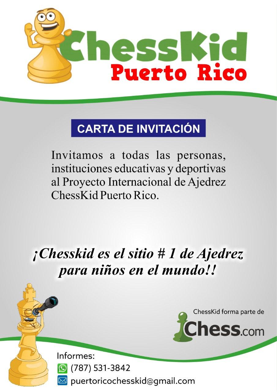 ChessKid Puerto Rico Carta de Invitacion
