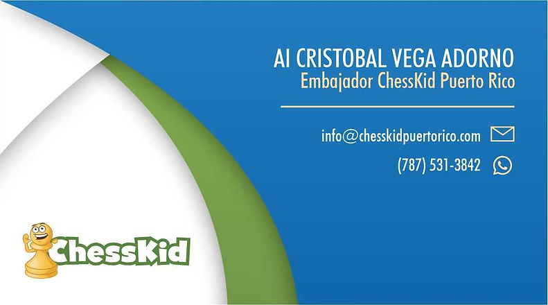 Tarjeta de Presentacion ChessKid Puerto