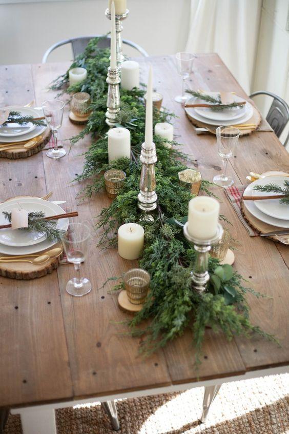 Detalles naturales para la decoración de Navidad.