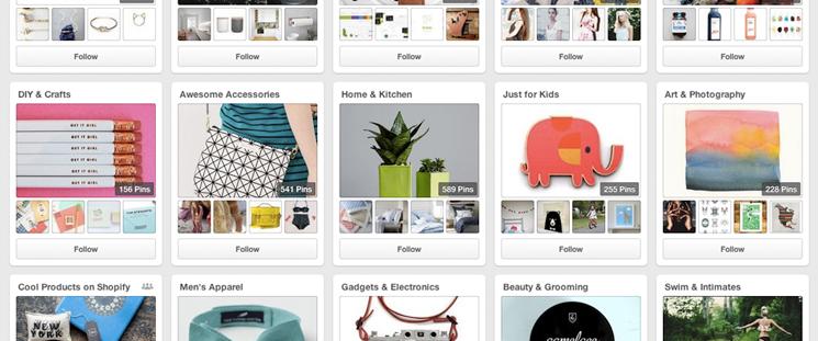 Organiza tus tablones en Pinterest