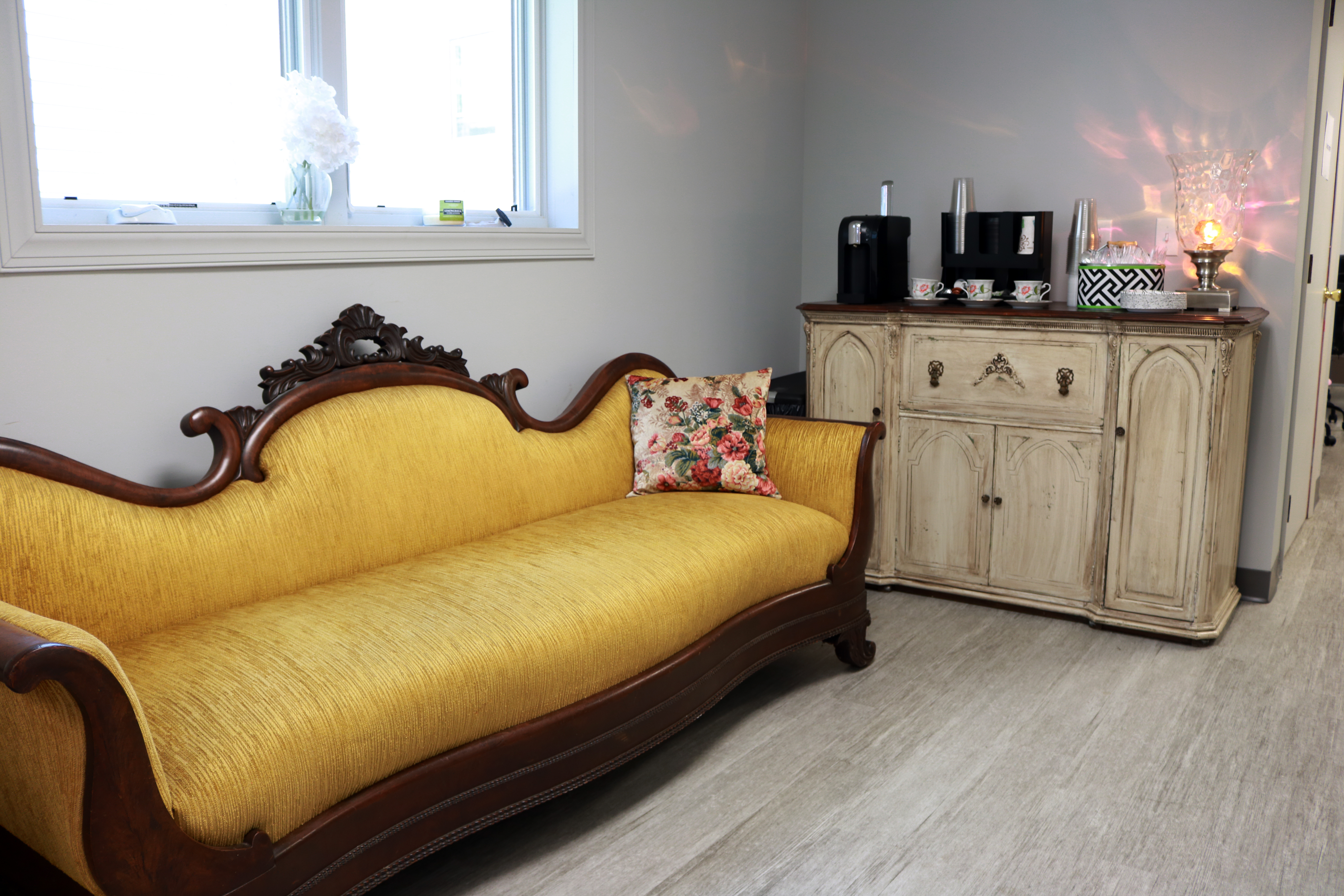 Vintage sofa and buffet