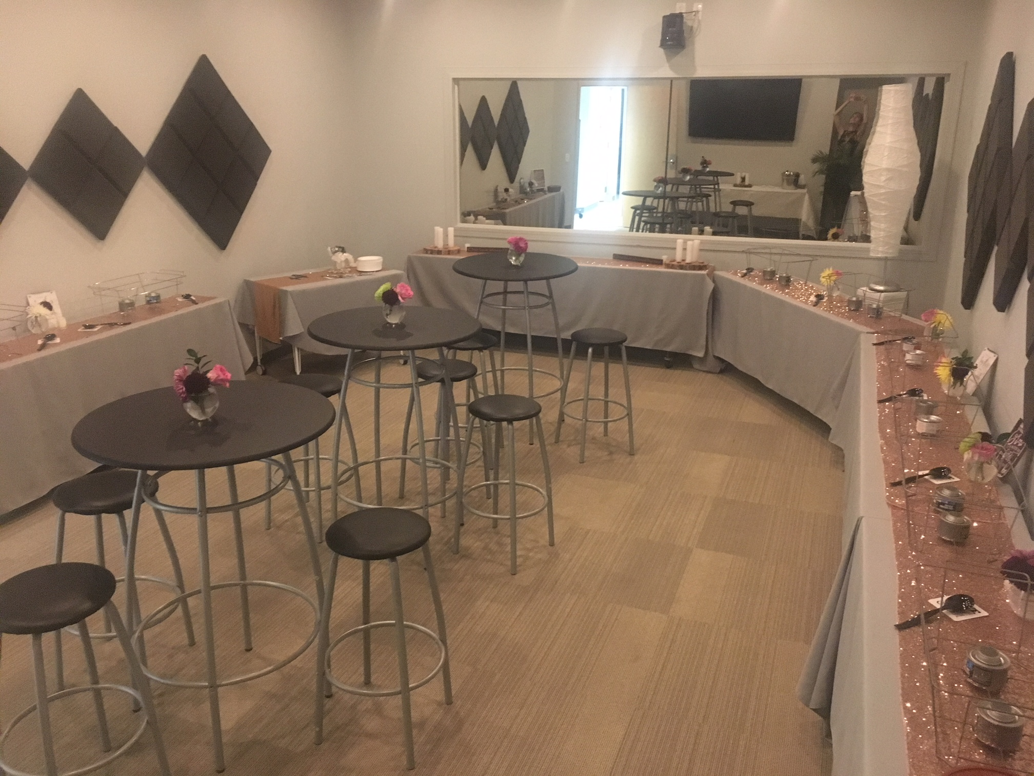 Griffin Boardroom Buffet Setup