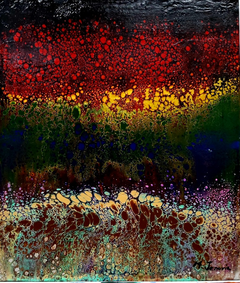 Rainbow Dream 2 Mixed media acrylic 46x5