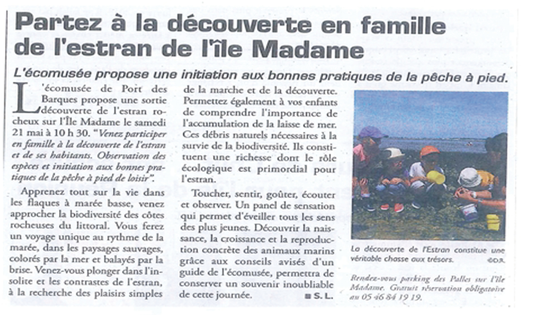 Article du Littoral (20.05.2016)