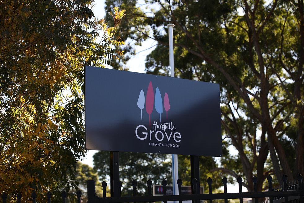 Hurstville Grove Infants School signboard