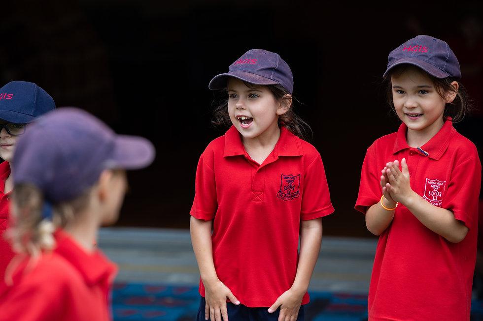 Hurstville Grove Infants School students encouraging their friends during sport
