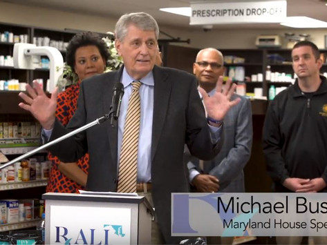 RALI Maryland launch featuring Speaker Busch, RALI Maryland partners