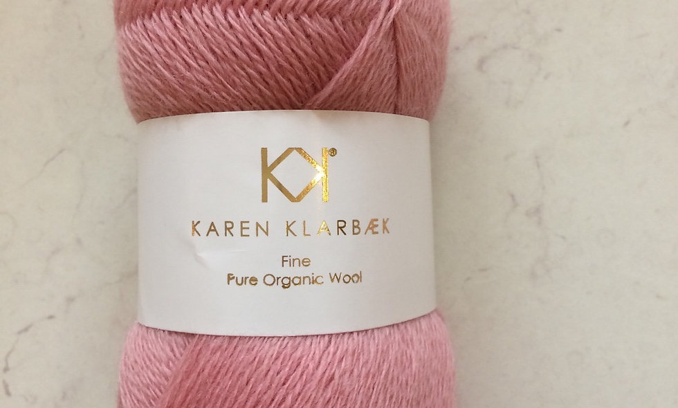 Rose- KK fine pure organic wool