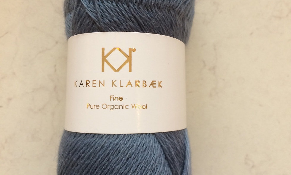 Blue - KK Fine Pure Organic Wool - økologisk uldgarn fra Karen K