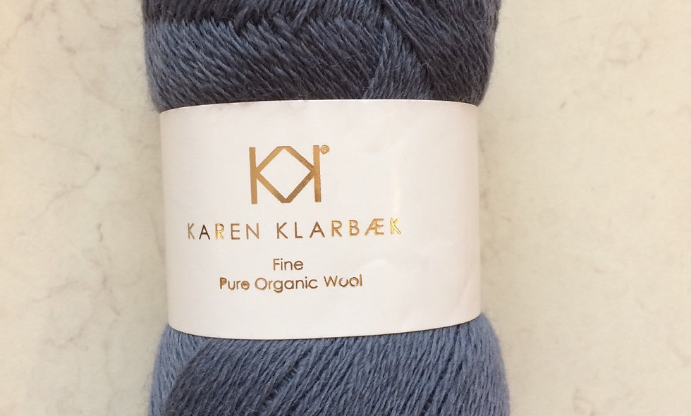 Dark blue- KK fine pure organic wool
