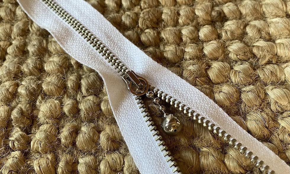 Lynlås 30 cm -  hvid