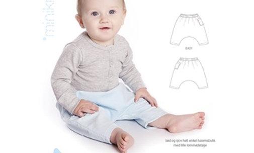 MINI KREA syopskrift på haremsbukser (0-2 år)