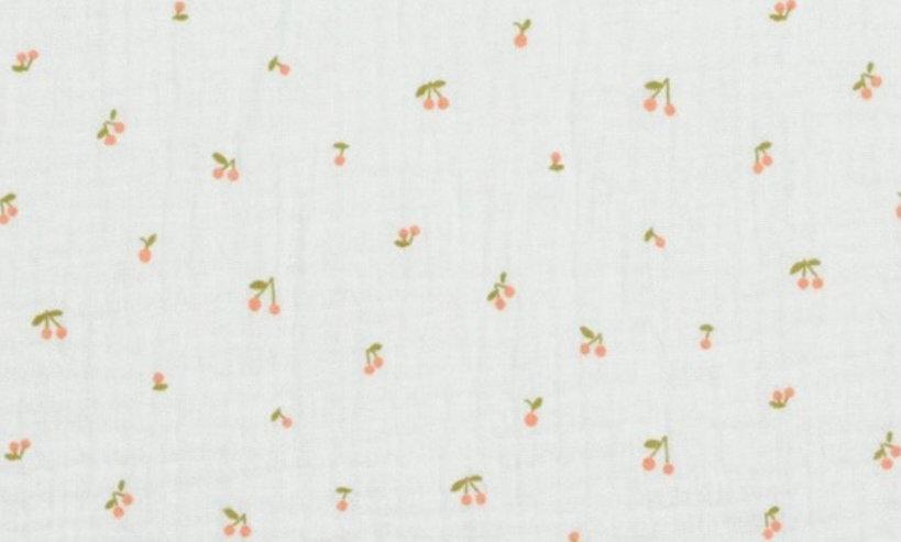 Cherry white- double gauze (pr 25 cm)