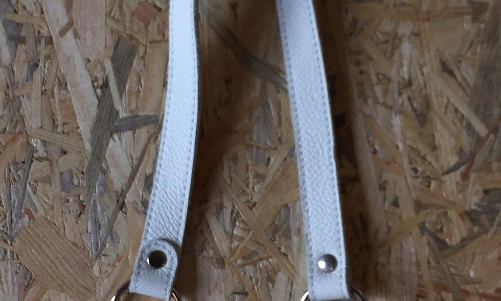 Læderhank (hvid)