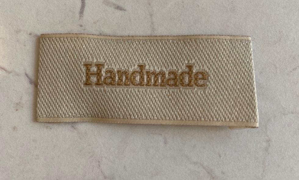 'Handmade' vævet mærke