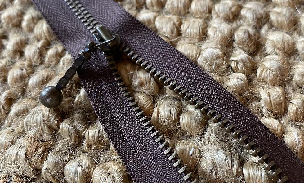 Lynlås 70 cm -  brun