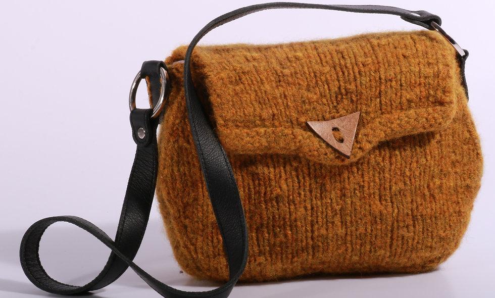 ALMA Filtet taske med læderhank