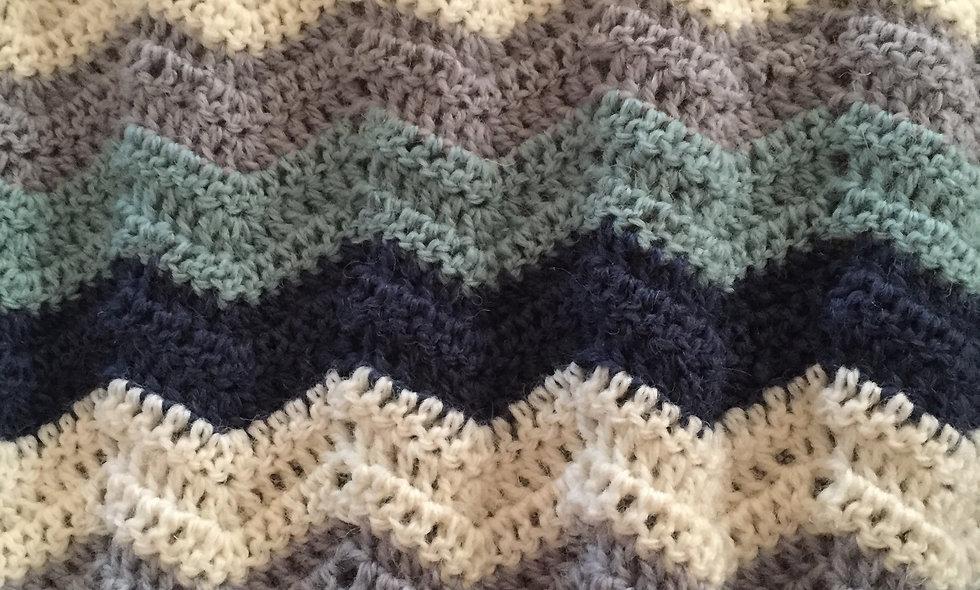 DIY hæklet babytæppe (garn og opskrift)