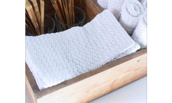 Hækleopskrift på serviet med lille vifte