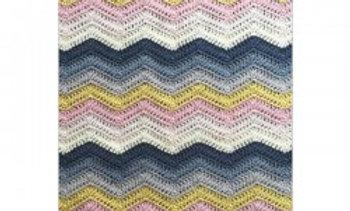 Hækleopskrift på zigzag tæppe