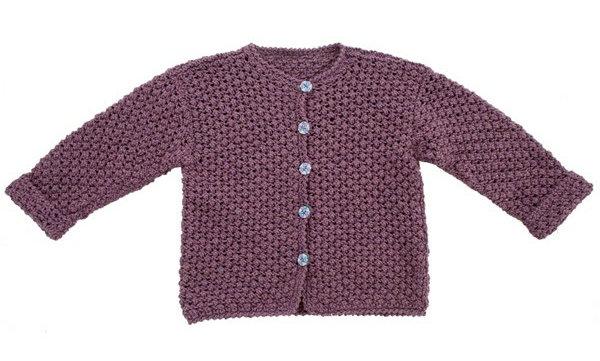 Cardigan med brombærmønster (strikkeopskrift)
