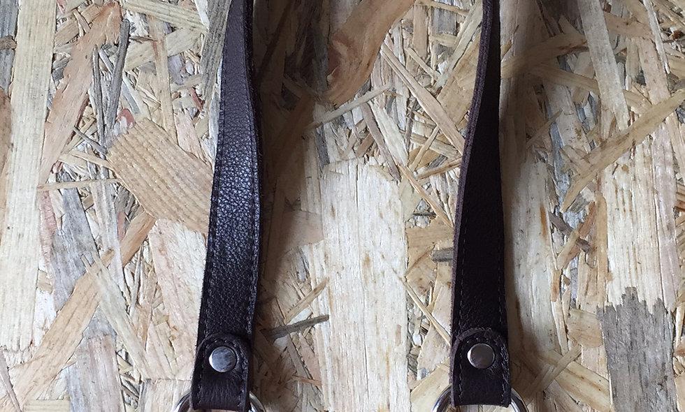 Læderhank (mørk brun)