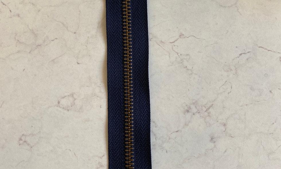 Lynlås 20 cm - mørk blå