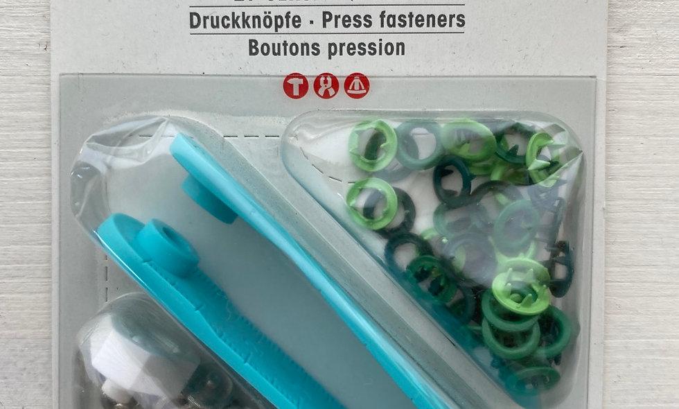 Prym jersey trykknapper (grøn)