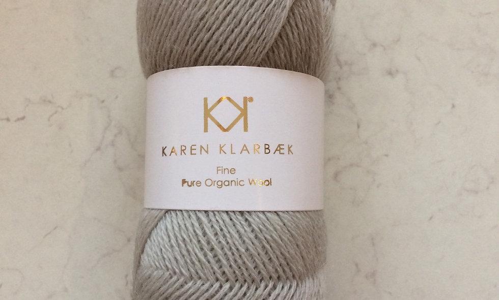 Light cool grey - KK fine pure organic wool