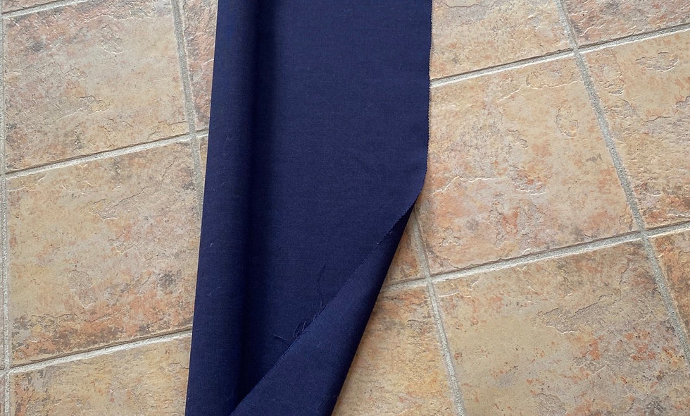 Mørk blå møbelstof (uldkvalitet) pr 25 cm