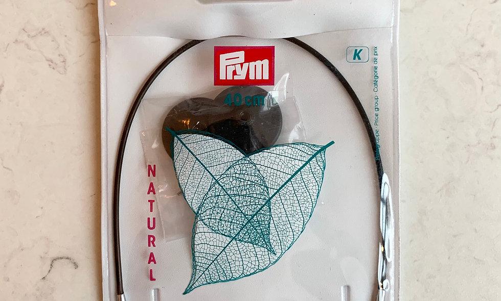 KnitPro Natural wire til kabelpinde 40 cm