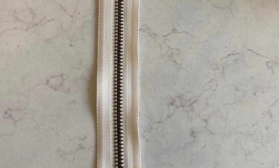 Lynlås 20 cm - hvid