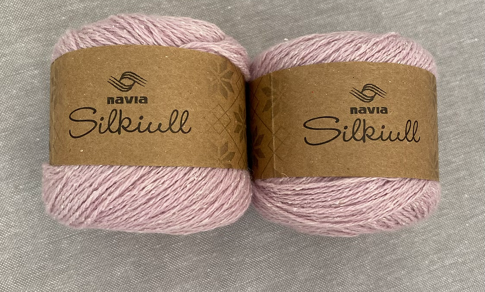 NAVIA silkeuld (lyserød)