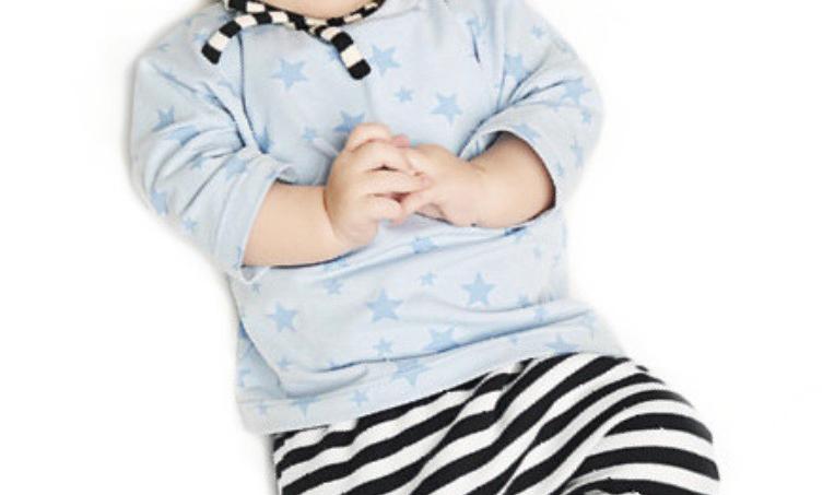 MINI KREA babysæt med hue str. 0 - 2 år (50-92)
