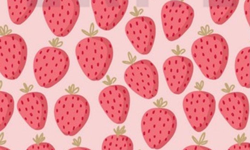 Glitter sweet strawberry (pr 25 cm)
