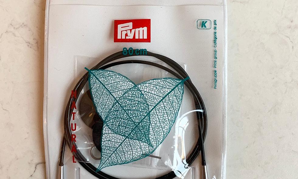 KnitPro Natural wire til kabelpinde 80 cm