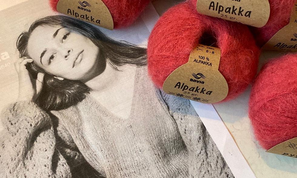 Tilbuds kit (strikket bluse i alpaka)