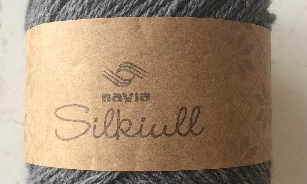 NAVIA silkeuld (mellem grå)
